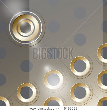 Vector  cover design with  metal holes on transperent  backgroun