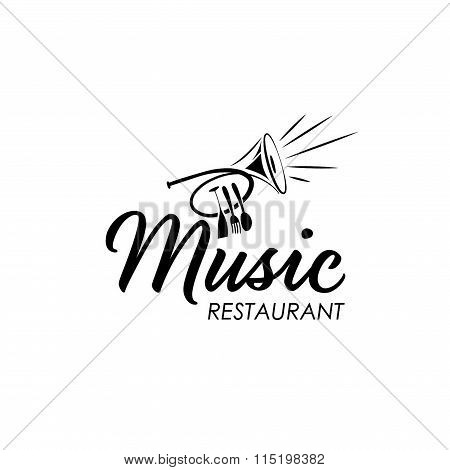 restaurant with jazz music .Concept of graphic clipart work poster