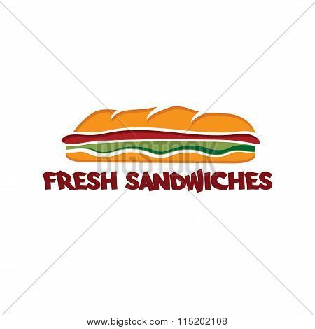 Sandwich Vector Design Template