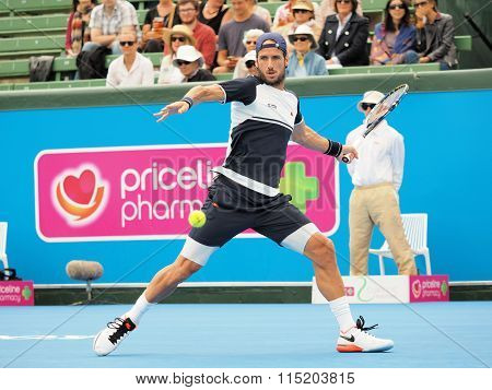Feliciano Lopez Of Spain forehand