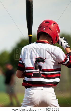 Youth Baseball Boy at the plate