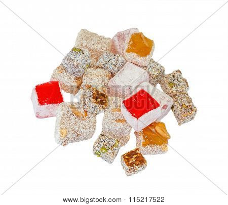 Variety Turkish Delight Isolated