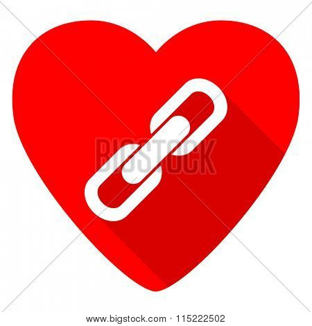link red heart valentine flat icon