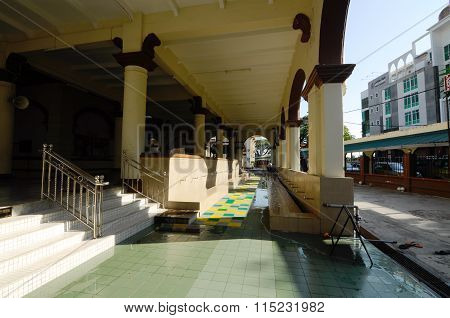 Ablution of Muhammadi Mosque or The Kelantan State Mosque in Kelantan, Malaysia