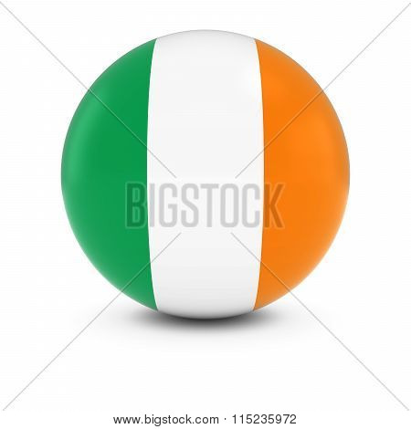 Irish Flag Ball - Flag Of Ireland On Isolated Sphere