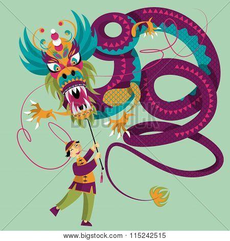 Chinese New Year. Dragon Dance.