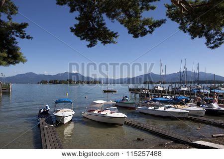 Mountain View At Lake Chiemsee, Bavaria