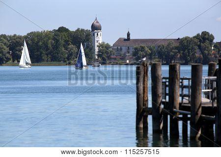 Isle Of Frauenchiemsee In Bavaria, Germany