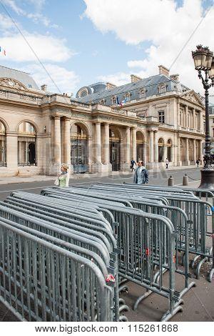 Anti-protest Fences Near Conseil D'etat - Council Of State Building