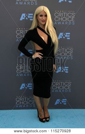 LOS ANGELES - JAN 17:  Giselle Loren Lazzarato at the 21st Annual Critics Choice Awards at the Barker Hanger on January 17, 2016 in Santa Monica, CA