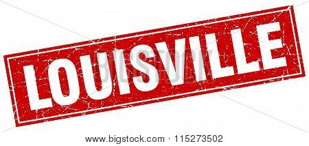 Louisville red square grunge vintage isolated stamp
