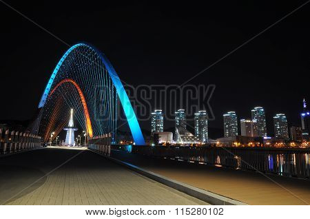 Daejeon Expo bridge illumination , South Korea