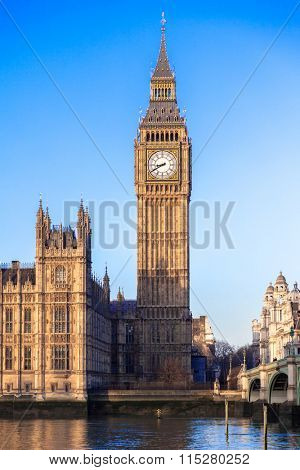 Famous Big Ben in Central London