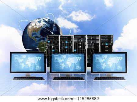 Internet Cloud Server Concept