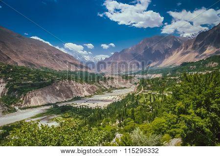 Gilgit river valley