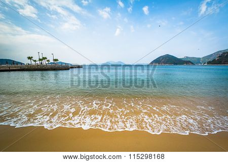 Beach At Repulse Bay, In Hong Kong, Hong Kong.
