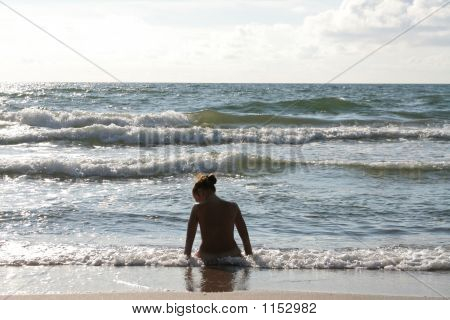 Woman Near The Sea