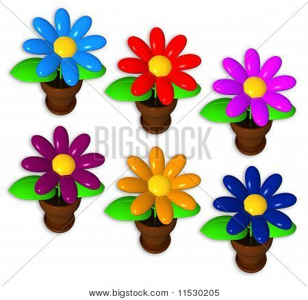 Synthetic Flower Pots