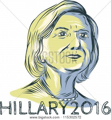 Hillary 2016 President Drawing
