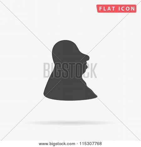 facial profile simple flat icon