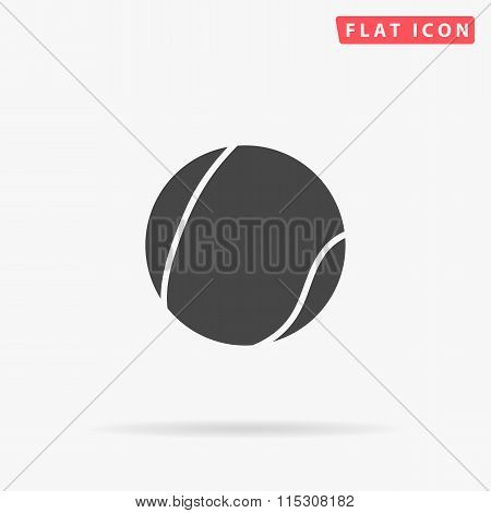 tennis ball simple flat icon