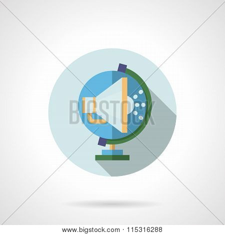 Global promotion flat vector icon