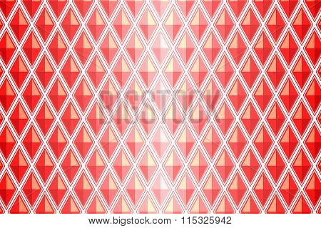 Red Diamond Shaped Quadrangle