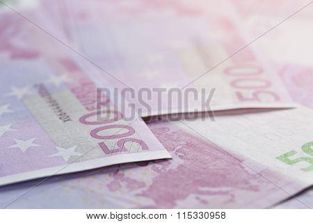 500 euros bills as a background