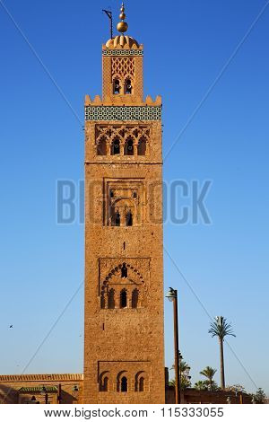 History In Maroc Africa  Minaret Religion The Blue     Sky