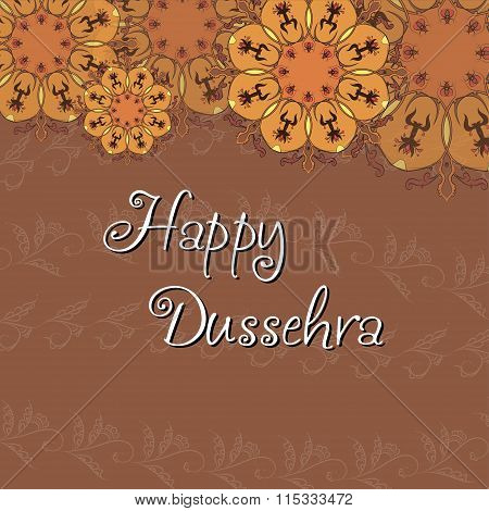 Greeting card for Dussehra celebration in India.