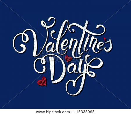 Hand Sketched Valentine's Day Text. Valentine's Day Typography.