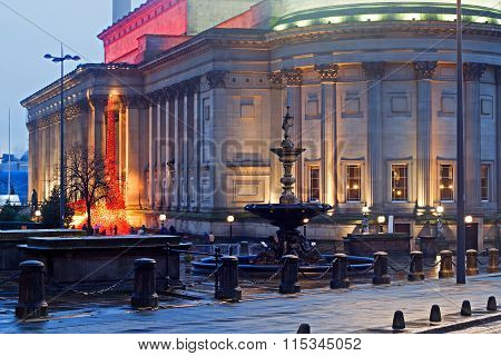 St Georges Hall Liverpool Uk At Dusk, A Neoclassical Grade 1 Listed Building