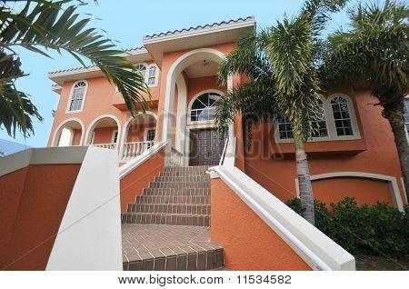 Stairway to elegant mansion