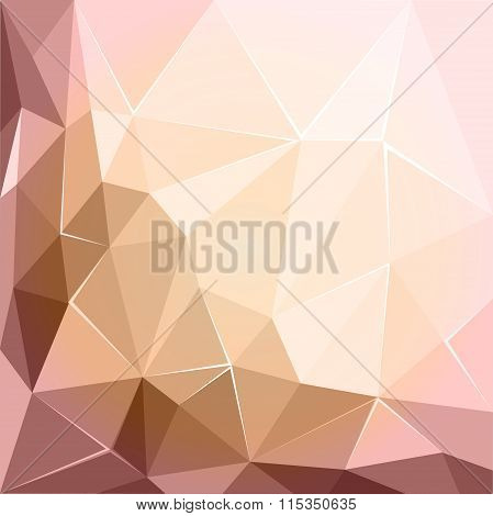 Abstract Polygonal Geometric Facet Pink And Ecru Background Wallpaper