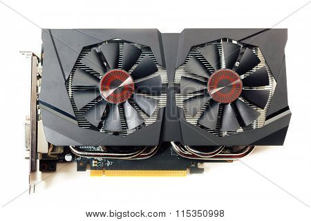 graphic video card, isolated on white