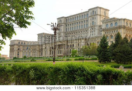 The parliament Ceausescu house in Bucharest Romania