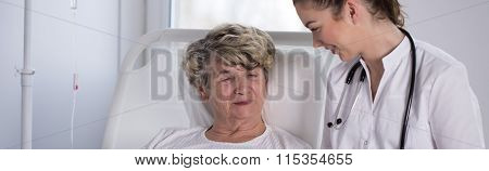 Nurse With Elderly Hospice Patient