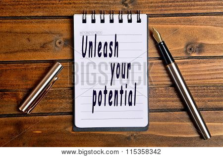 Unleash Your Potential Text