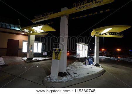 McDonald's Drive-Thru at Night