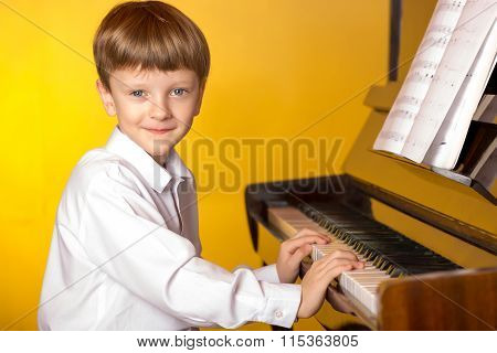 Boy Piano. Piano Player.