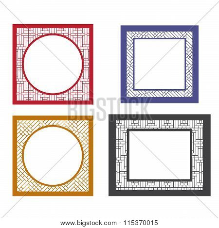 Set Of Retro Blank Picture Frame Template