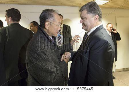 Petro Poroshenko, And Director Of The World Bank, Jim Yong