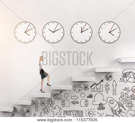 Woman Going Upstairs, Time Running