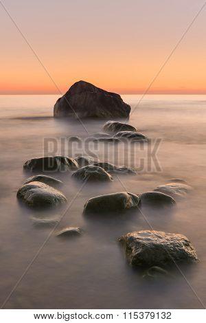 Rocks in the sea