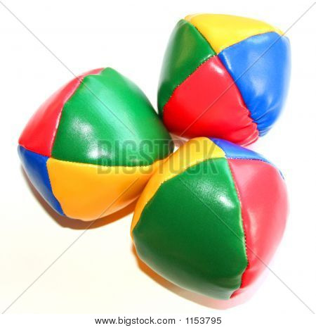 Three Colorful Juggling Balls