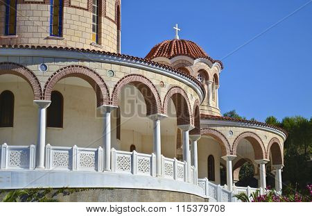 Saint Nectarios Monastery in Aegina Greece