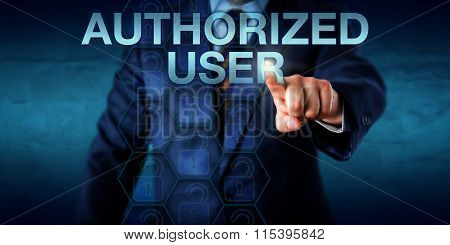 Manager Pressing Authorized User Onscreen