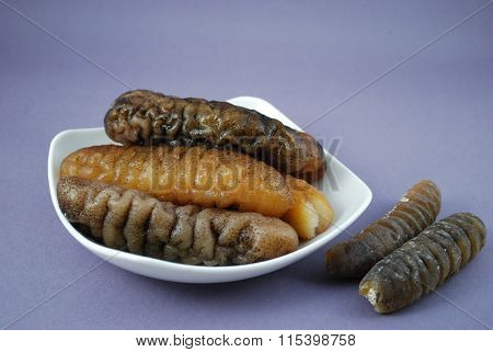 Sea Cucumber Is Isolated