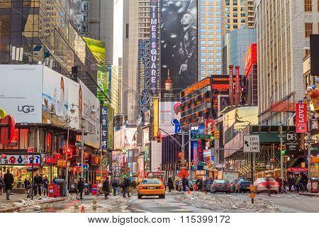 Electric Signs At Broadway Ny