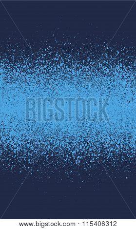 Graffiti Spray Effect Gradient Element In Blue Tones
